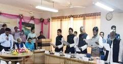 সুনামগঞ্জ ও হবিগঞ্জের ১৭ উপজেলা চেয়ারম্যান শপথ নিলেন