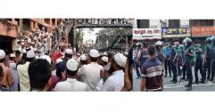 মাদ্রাসাছাত্র নিহতের ঘটনায় সিলেটে তাৎক্ষণিক প্রতিবাদ সমাবেশ